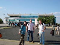 Andrew Corbett in India, with friends
