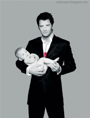 Сакис Рувас с дочкой