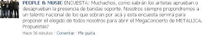 Telonero de Metallica en Lima
