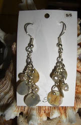 Sterling Silver, fresh water pearls and mussel shells