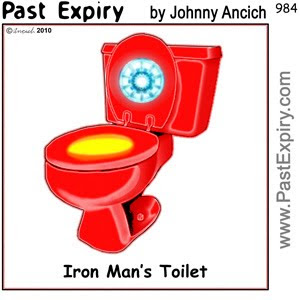 [CARTOON] Iron Man's Toilet.  images, pictures, cartoon, superhero, technology,