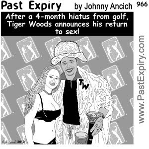 [CARTOON] Tiger Woods Return to Golf.  images, pictures, cartoon, celebrity, millionaire, men, news, relationships, TigerWoods
