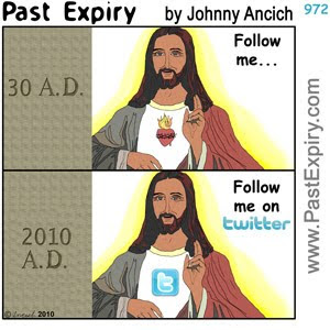 [CARTOON] Jesus on Twitter.  images, pictures, cartoon, fans, internet, religion, social networking, Twitter,