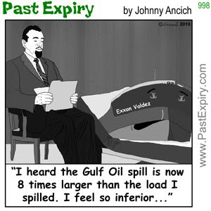 [CARTOON] Exxon Valdez.  images, pictures, cartoon, environment, oil, pollution, record, US, shrink