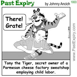 [CARTOON] Tony the Tiger Sweatshop.  images, pictures, animals, business, spoof, kids, work