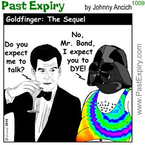 [CARTOON] Goldfinger - The Sequel.  images, pictures, cartoon, DarthVadar, entertainment, movie, spoof,