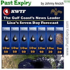 [CARTOON] Louisiana Weather Chart.  images, pictures, cartoon, environment, oil, pollution, tragedy, weather