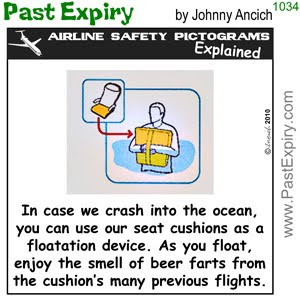 [CARTOON] Airline Seat Cushions.  images, pictures, airlines, pictogram, safety, vacation