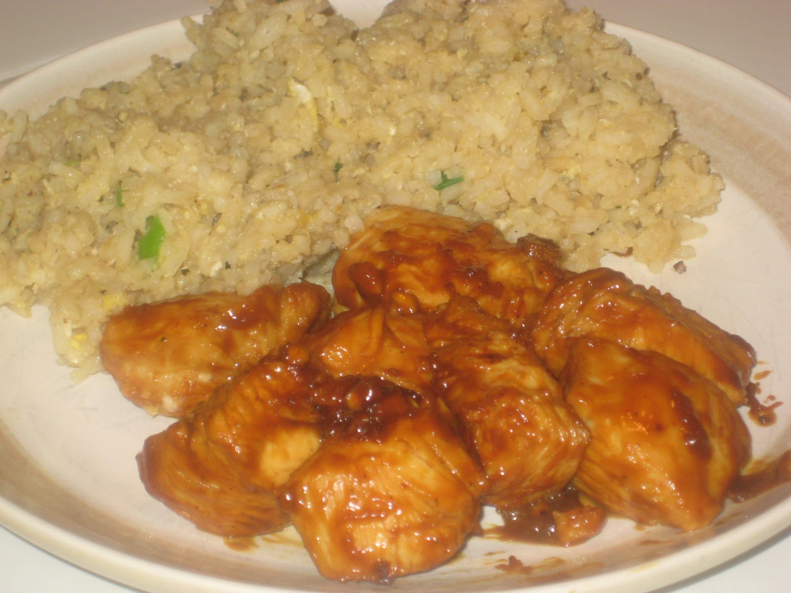 The menu mama thai honey peanut chicken and fried rice mix scrambled egg into rice cook and stir for a minute or two more and serve alongside thai honey peanut chicken ccuart Image collections