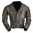 Forever in style, males's leather jacket