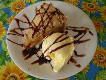 Torta de maçã com sorvete