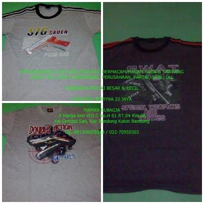 Kaos Oblong Bahan P E