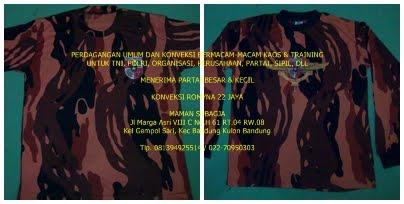 Kaos Oblong Tangan Pendek & Panjang Loreng PP