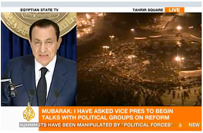 Mubarak isn't planning to go anywhere before the next election.
