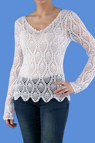 Crochet Patterns For Ladies Tops : Royal Lace Industries