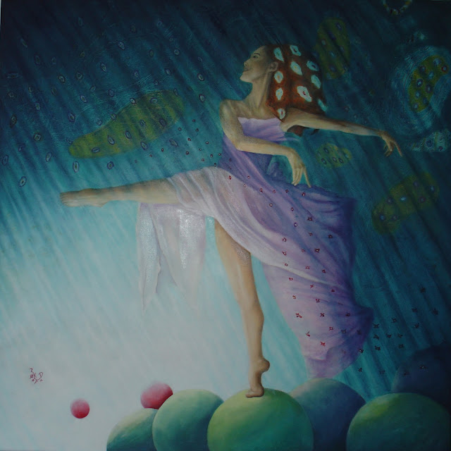 ballerina oilpainting by fora
