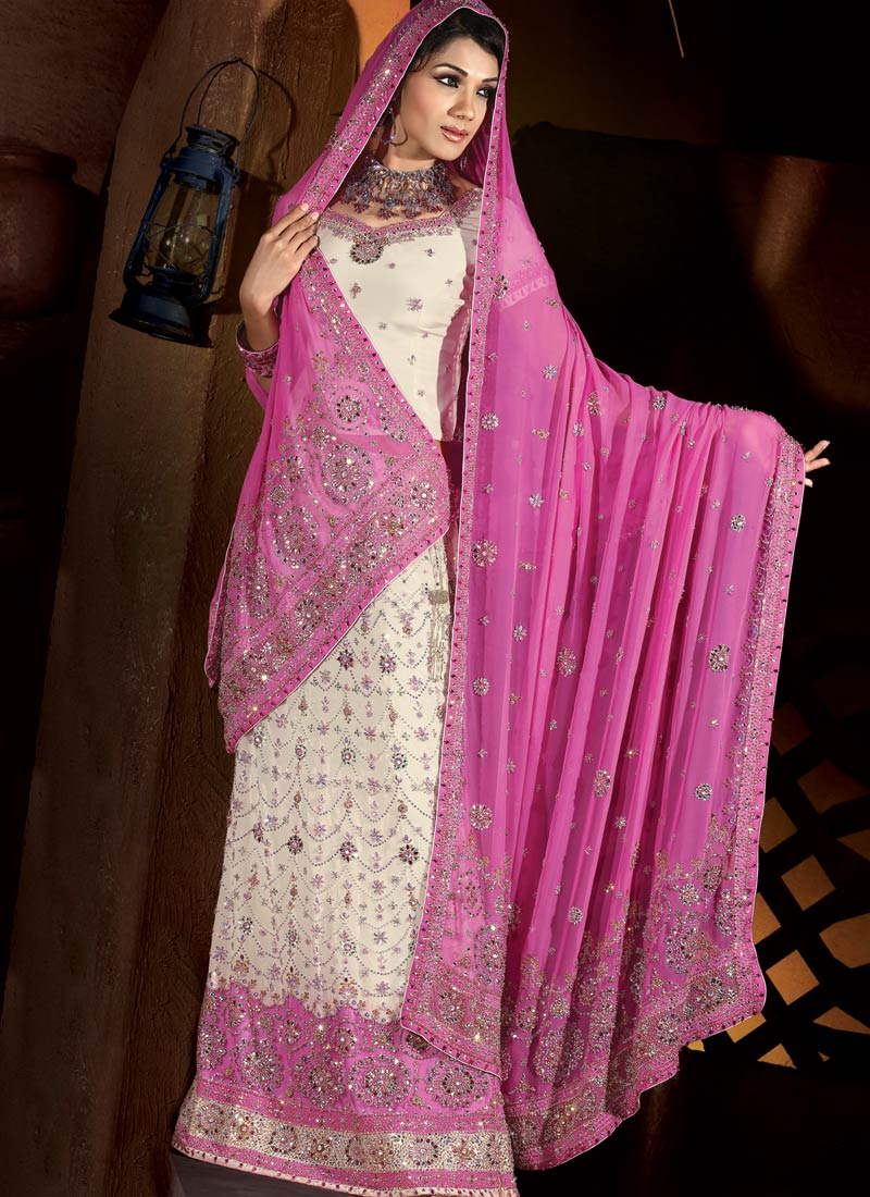 wedding dress colection: Pink Muslim Bridal Designs | Pink Wedding ...