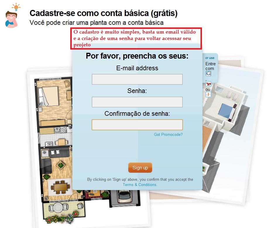 infoFUTIL: Fazendo Plantas Baixas  Floorplanner