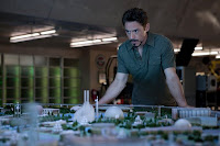 Tony Stark overseeing a model of his father's Stark Convention