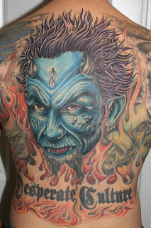 Evil Twins Full Back Tattoos