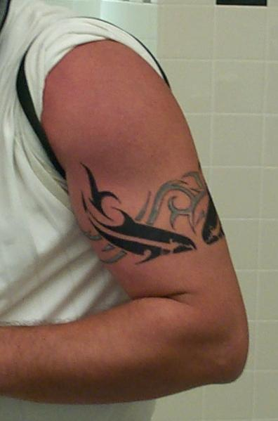 unique native american armband tattoo