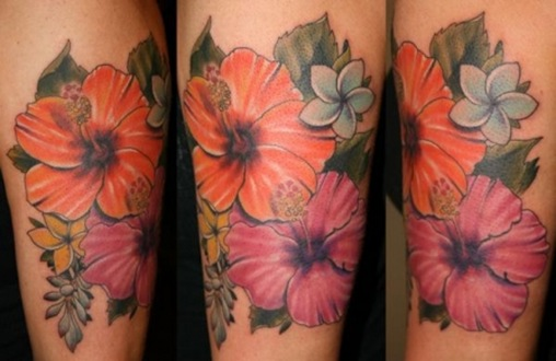 Sexy Cute Girl With Flower Tattoo Specially Floral tattoo Designs Images 3