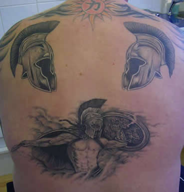 Roman Tattoo in Back