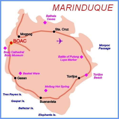 Marinduque Philippines Map The Philippines Marinduque