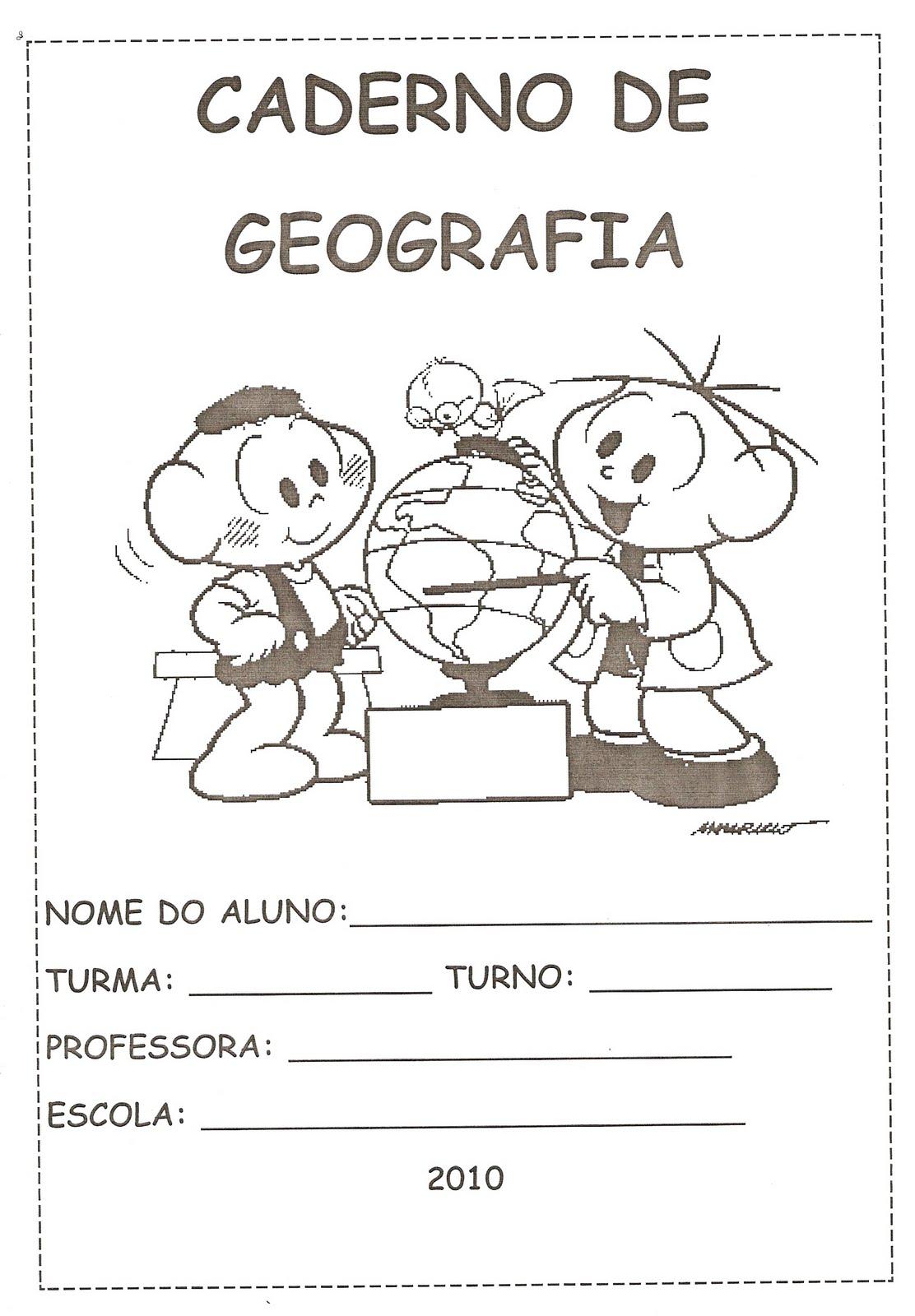 BRINCAR e APRENDER: Capas de Caderno Turma da Mônica Preto e Branco