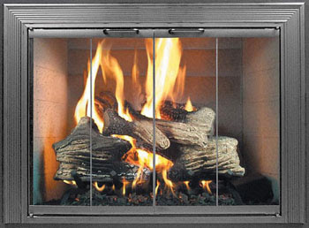 Fireplace Decorating Choosing The Right Fireplace Glass Door