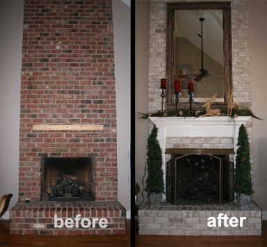 brick fireplace makeover. brick fireplace makeover - 5667