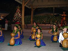 Keiki hula at Hawaii Christmas vacation