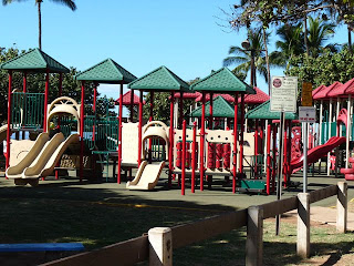 Playground at Kalam Beach Park, Kihei