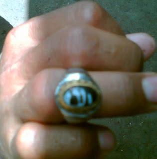 batu cincin berlafal Allah