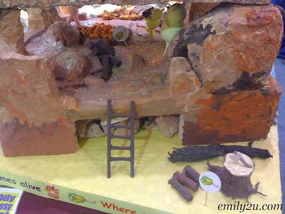 inside of the clay bear house