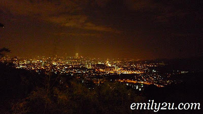 overlooking Kuala Lumpur city from The Lookout Point in Ampang