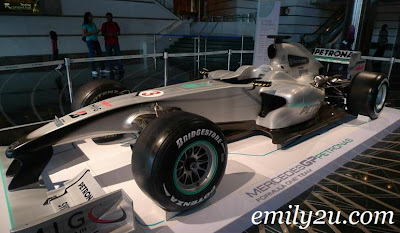 Mercedes Grand Prix PETRONAS F1 Team race car
