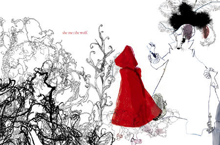 Little Red Riding Hood Illustrations By Daniel Egneus