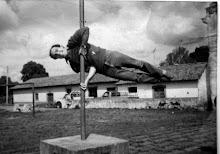 Joe on a pole