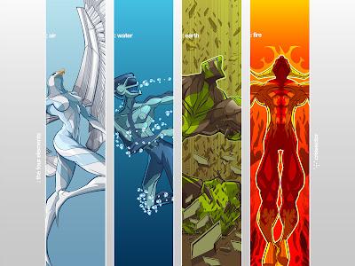Vector art the four elements