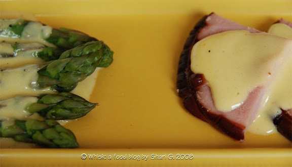Sauce Moutarde on Asparagus and Ham