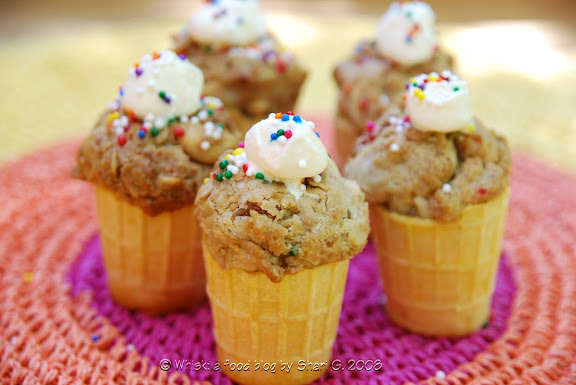 Granola Grabbers in ice cream cones