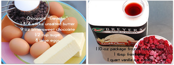 Ingredients for Chocolate-Banded Ice Cream Torte