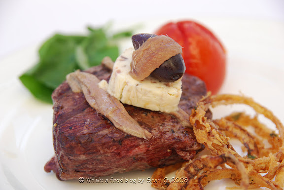 Steak Mirabeau (Beef Tenderloin Steaks with Anchovy Butter)
