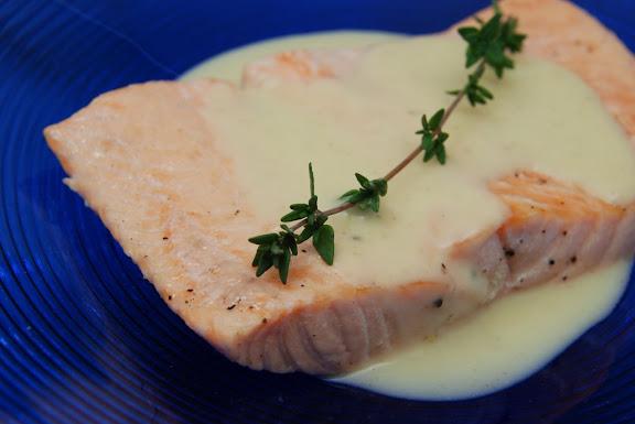 Saumon au Champagne (Salmon in Champagne Sauce)