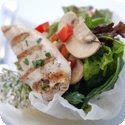 Salade de Poulet aux Epinards (Spinach Salad with Chicken)