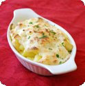 Gnocchi  la parisienne (Baked dumplings in Mornay sauce)