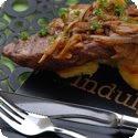 Entrecôte Lyonnaise (Steak, Lyonnaise style)