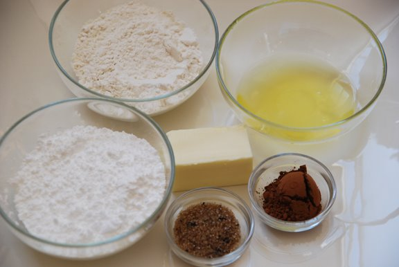 Ingredients for Tuile Fortune Cookies