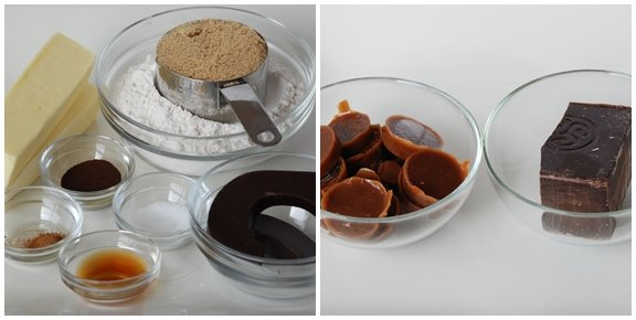 Ingredients for Caramel Crunch Bars